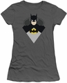 Batman juniors t-shirt Simple Bat charcoal