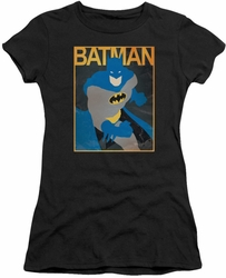 Batman juniors t-shirt Simple Poster black