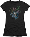 Batman juniors t-shirt Surrounded black