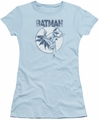 Batman juniors t-shirt Swinging Bat light blue