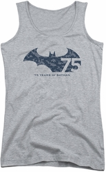 Batman juniors tank top 75 Year Collage athletic heather