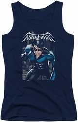 Nightwing juniors tank top A Legacy navy