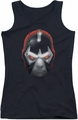 Batman juniors tank top Bane Head black