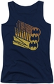 Batman juniors tank top Bat Signal Shapes navy