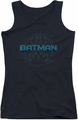 Batman juniors tank top Bat Tech Logo black