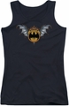 Batman juniors tank top Bat Wings Logo black