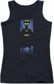 Batman juniors tank top Batman Block black
