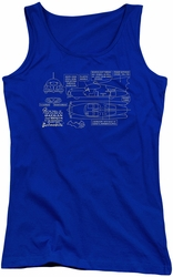 Batman juniors tank top Batmobile royal