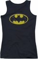 Batman juniors tank top Bats In Logo black