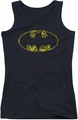 Batman juniors tank top Bats On Bats black
