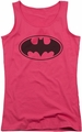 Batman juniors tank top Black Bat hot pink