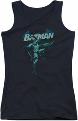 Batman juniors tank top Blue Bat black