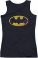 Batman juniors tank top Bm Neon Distress Logo black