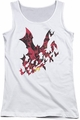 Batman juniors tank top Broken City white