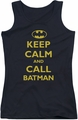 Batman juniors tank top Call Batman black