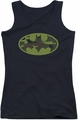 Batman juniors tank top Camo Logo black