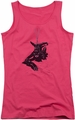 Batman juniors tank top Catwoman Rope hot pink
