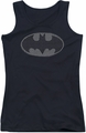 Batman juniors tank top Chainmail Shield black