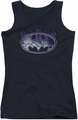 Batman juniors tank top Cracked Shield black