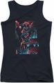 Batman juniors tank top Dark Knight Panels black