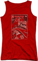 Batman juniors tank top Doa Cover red