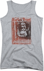 Harley Quinn juniors tank top Dr Quinn athletic heather