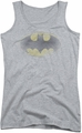 Batman juniors tank top Faded Logo athletic heather