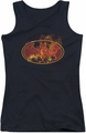 Batman juniors tank top Flames Logo black
