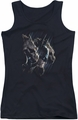 Batman juniors tank top Gargoyles black