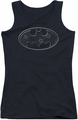 Batman juniors tank top Glass Hole Logo black