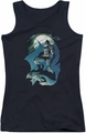 Batman juniors tank top Glow Of The Moon black