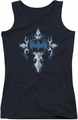 Batman juniors tank top Gothic Steel Logo black