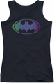 Batman juniors tank top Gradient Bat Logo black