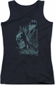 Batman juniors tank top Gritted Teeth black