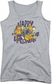 Joker juniors tank top Ha Ha Halloween athletic heather