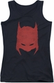 Batman juniors tank top Hacked & Scratched black