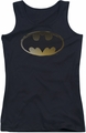 Batman juniors tank top Halftone Bat black