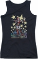 Harley Quinn juniors tank top Hammer Time black