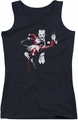 Harley Quinn juniors tank top Harley And Joker black