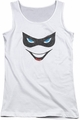 Harley Quinn juniors tank top Harley Face white