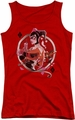 Harley Quinn juniors tank top Harley Quinn red