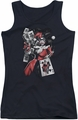 Harley Quinn juniors tank top Smoking Gun black