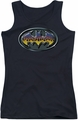 Batman juniors tank top Hot Rod Shield black