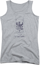 Batman juniors tank top I'M Batman heather