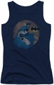 Batman juniors tank top In The Spotlight navy