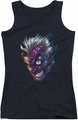Two-Face juniors tank top Just Face black
