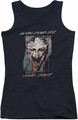 Joker juniors tank top Just For Laughs black