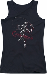 Catwoman juniors tank top Kitten With A Whip black