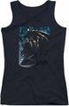 Batman juniors tank top Knight Falls In Gotham black