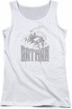 Batman juniors tank top Knight Sketch white